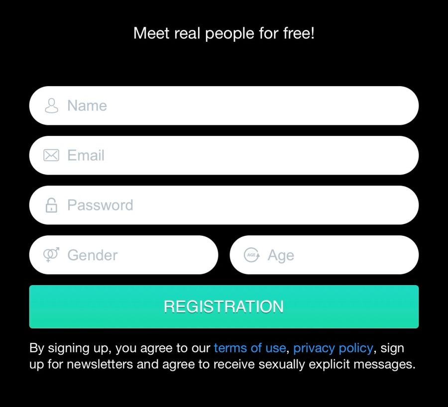 WetHunt Mobile SignUp