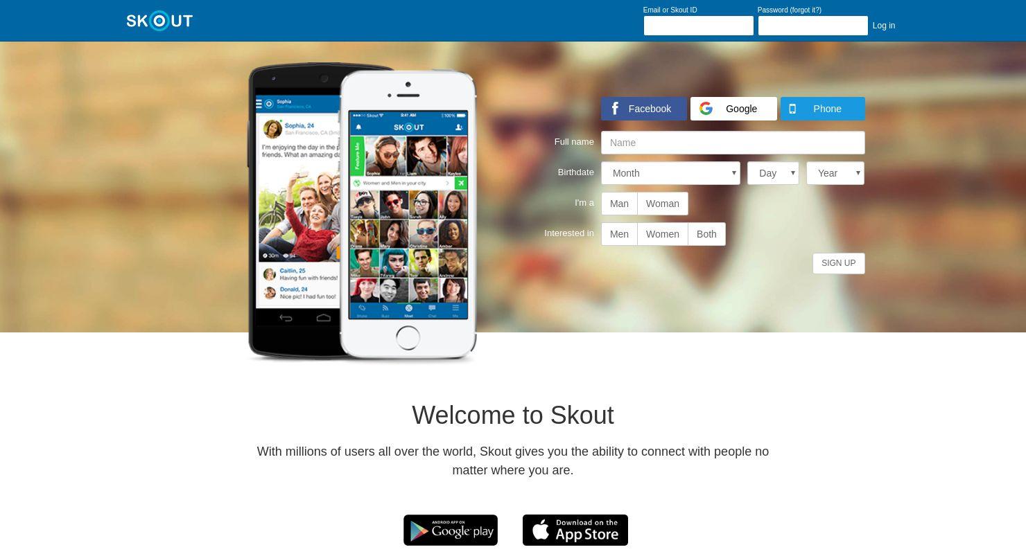 skout online dating sign up